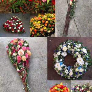 Compositions florales pour dernier hommage Chloé Savary fleuriste à Mies