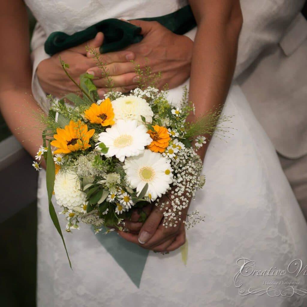 Bouquet de mariée fleuriste à Mies mariage