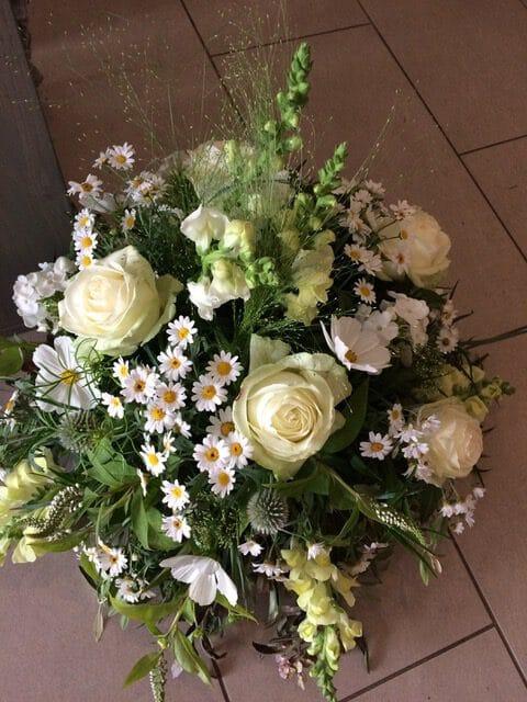bouquet de fleurs blanches galerie des créations florales