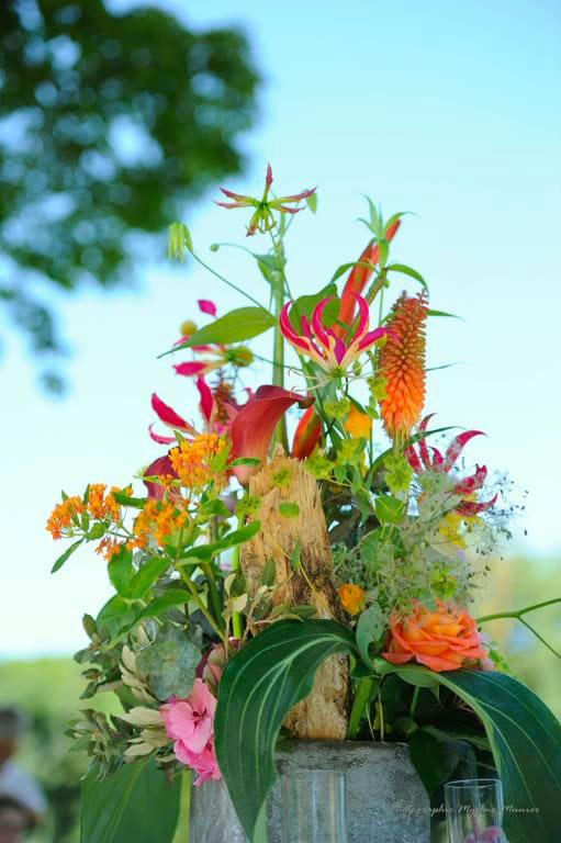 décoration composition florale événement galerie des créations florales