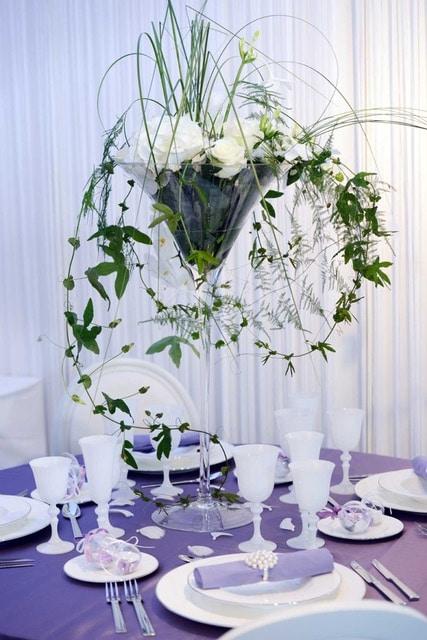 centre de table fleurs mariage galerie des créations florales