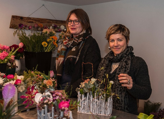 Equipe chloé savary et Joelle fleuristes