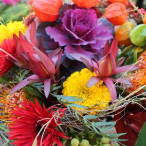 Chloé savary, bouquet d'automne, couleurs chaudes